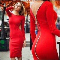 Платье с крупной молнией на спине