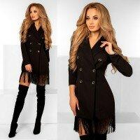 Платье пиджак бахрома