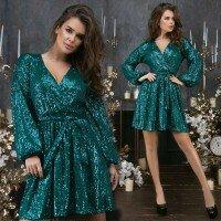 Платье халат сверкающее пайетками