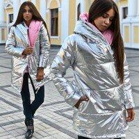 Двухсторонняя зеркальная куртка