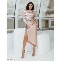Платье миди блестящее